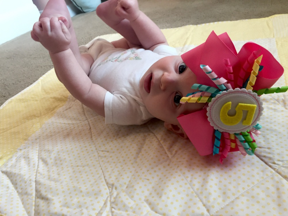 Look whose 5 months!