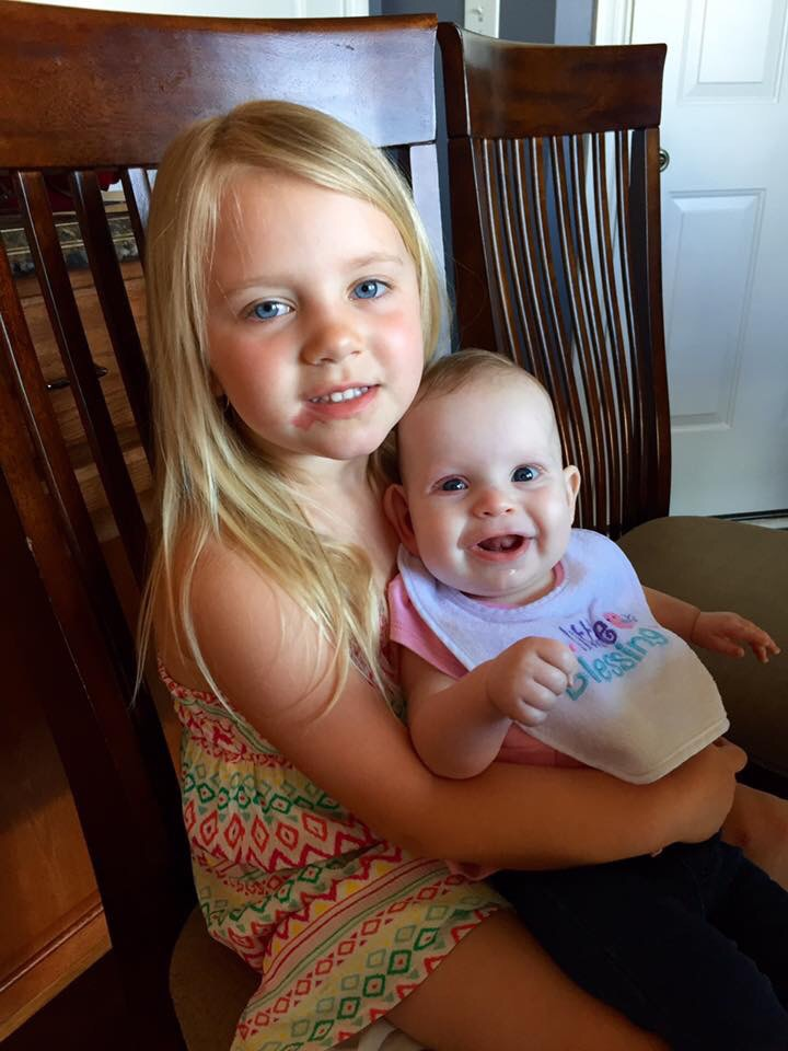 Hanging out with her buddy Kenzie who absolutely adores Annabelle and gets SO excited everytime she sees her! :)