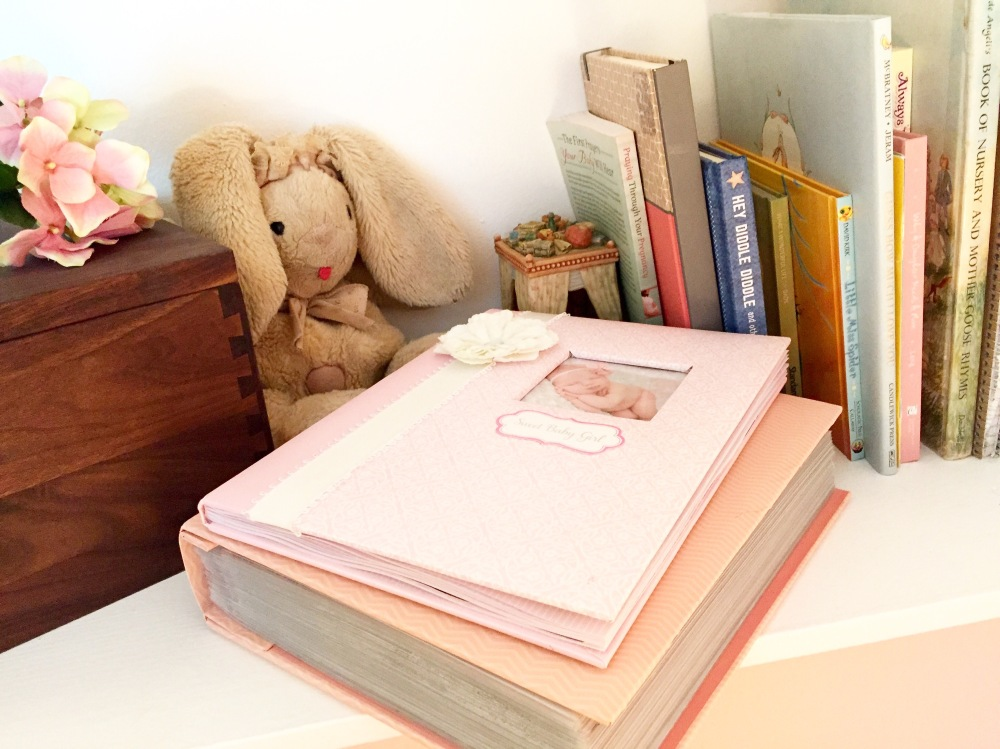 So many special mementos fill this little nook, journals, and books and other little things specially made or passed down for our Annabelle by so many people who love her dearly