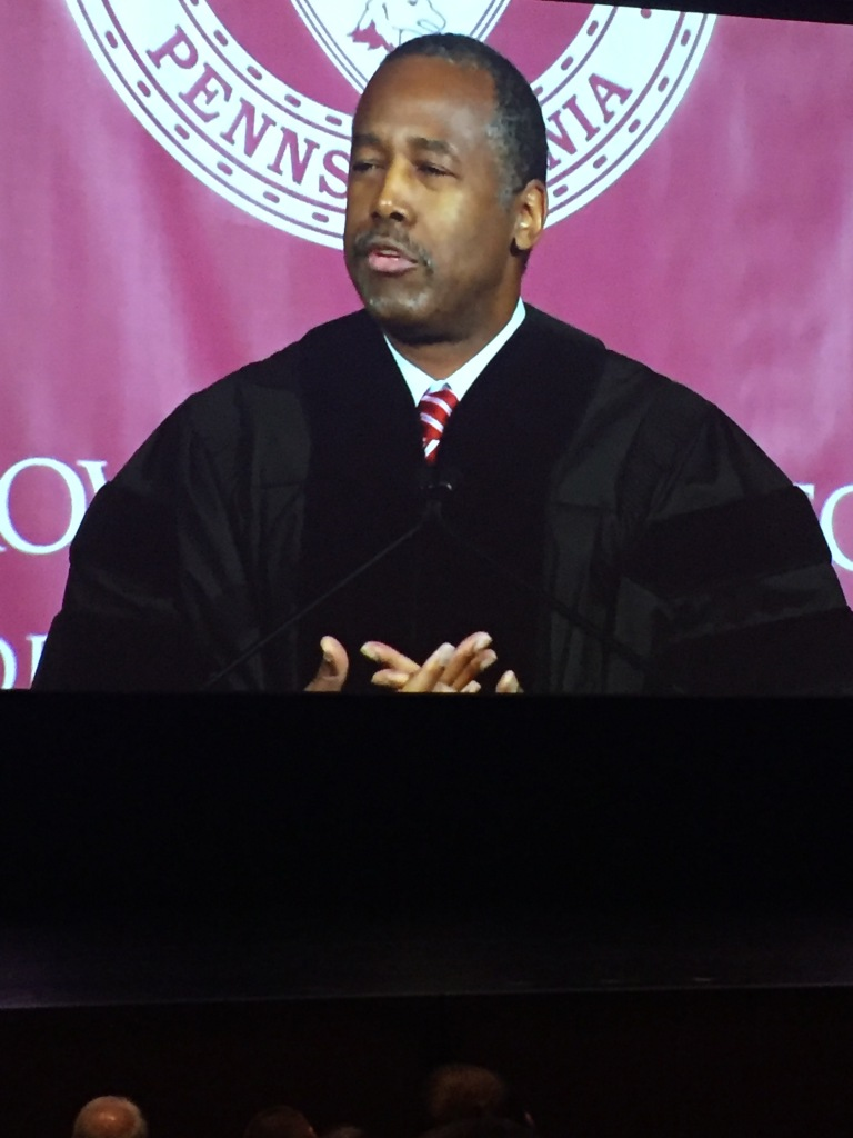 Dr. Ben Carson was the commencement speaker! It was so inspiring to here him talk about his life!