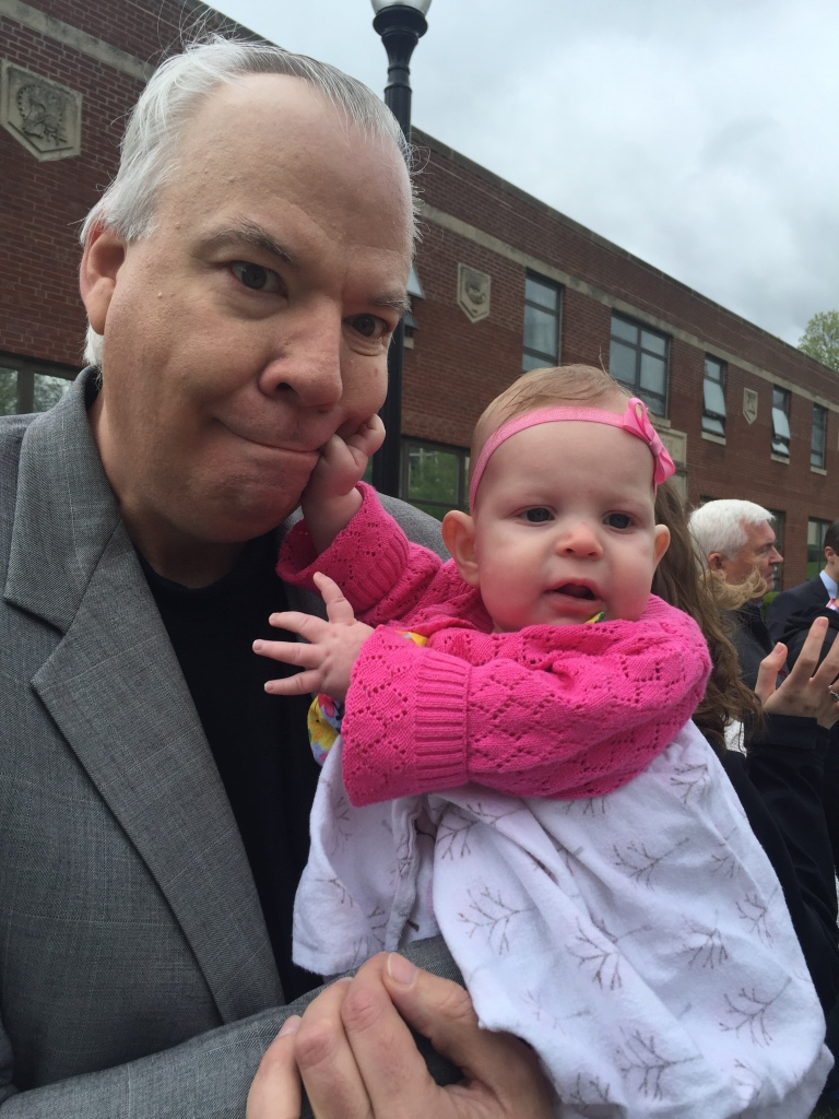 Goofball Jane hammin' it up with her Uncle Doug!