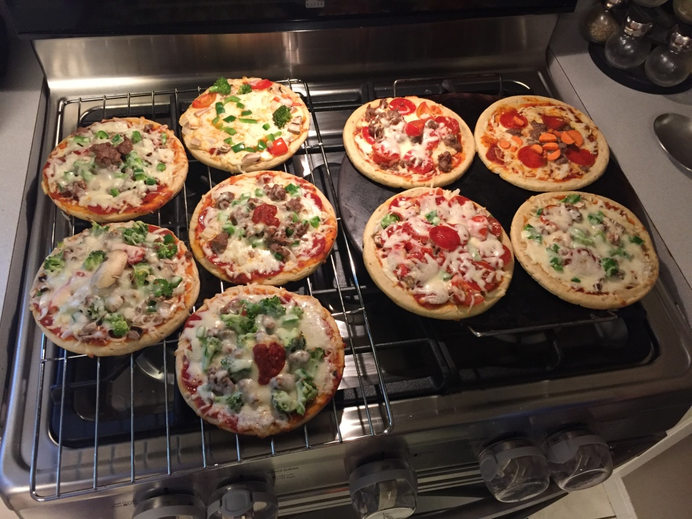 Our personal pizzas pies!!