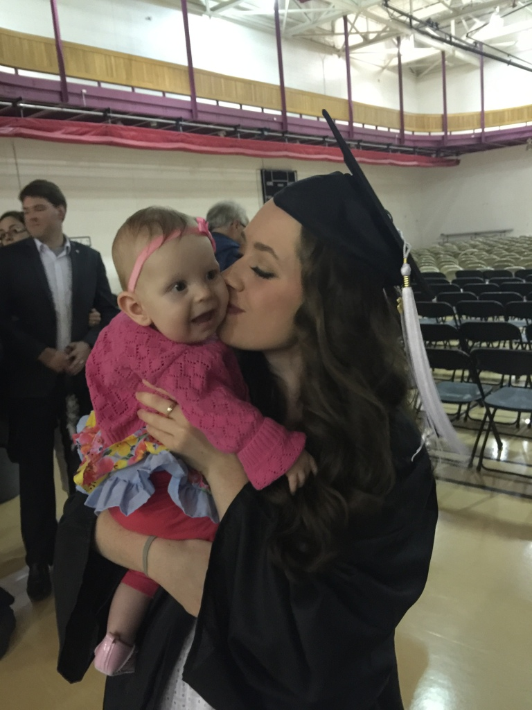 Kisses from the graduate!!