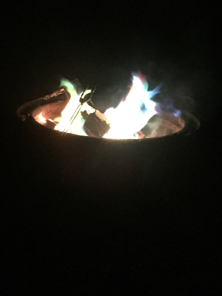 We were pretty impessed with Taylors rainbow campfire! She makes life just as fun as this campfire! She fills it with color :)