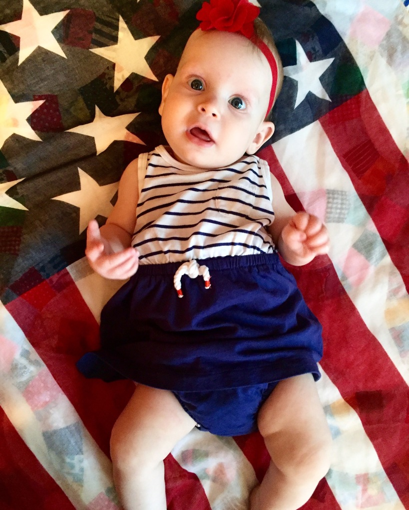 Our little All American Girl just hanging out on her first 4th of July!