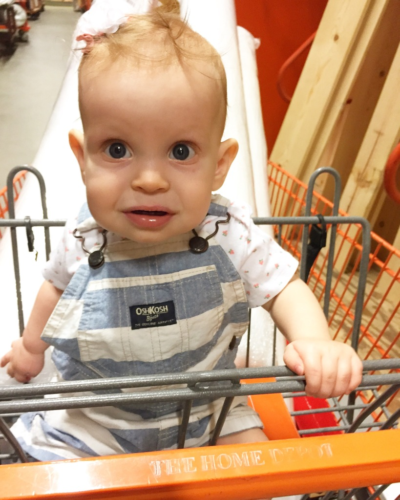 This girl is quite the Home Depot regular!