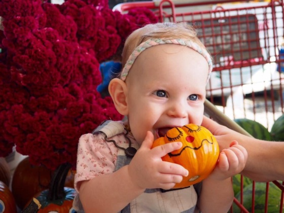 She picked out this pumpkin all herself