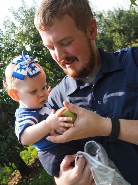 Picking Apples with Dad