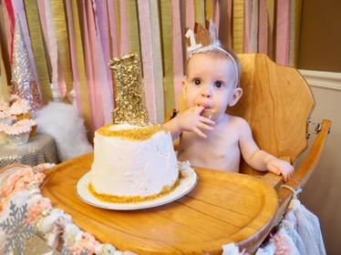 """This cake is pretty tasty mom!"""