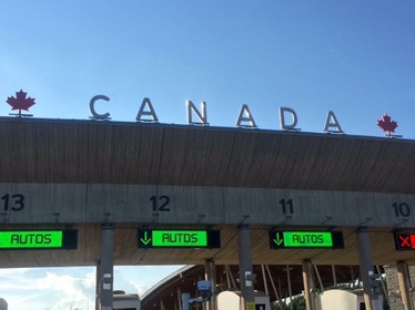 The Canadian Boarder Sign