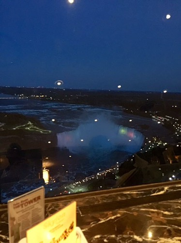 Our ariel view of the falls for dinner